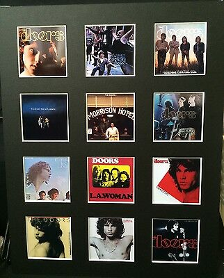 """DOORS DISCOGRAPHY PICTURE MOUNTED 14"""" By 11"""" READY TO FRAME"""