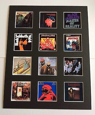 "BLACK SABBATH DISCOGRAPHY PICTURE MOUNTED 14"" By 11"" READY TO FRAME"
