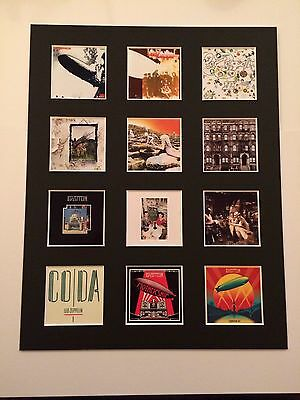 "LED ZEPPELIN DISCOGRAPHY PICTURE MOUNTED 14"" By 11"" READY TO FRAME"