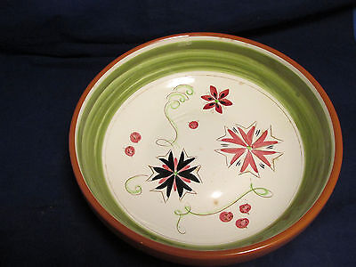 VERY LARGE RARE SERVING BOWL STANGL CARNIVAL POTTERY VINTAGE