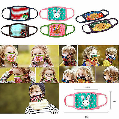 Kids Unisex Lovely Design Unisex Microfiber Mouth Dustproof Mask Cover 6 Colors