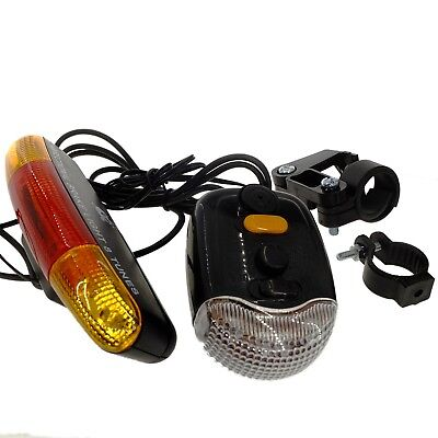 Bike Bicycle 8 Tune Horn + Direction Turn Signal Safety Rear Light Blinker