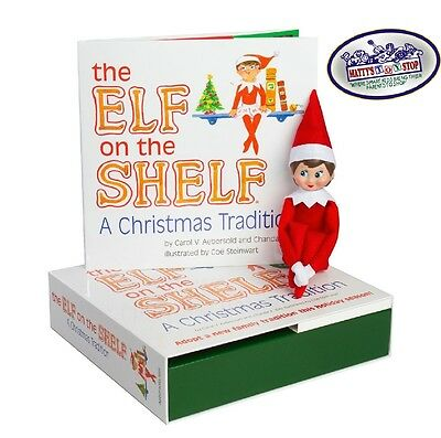 Elf on the Shelf: A Christmas Tradition Blue Eyed Light Girl Scout Elf - NEW