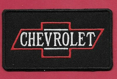 "New Chevrolet 'Bow Tie Black' 2 1/4X 4""  Inch Iron on Patch Free Shipping"