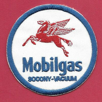 "New Early Mobil Gas 'SOCONY' 3""  Inch Iron on Patch Free Shipping"