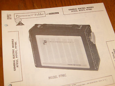 General Electric model P795C,P797C,P798C Photofact Folder,transistor radio