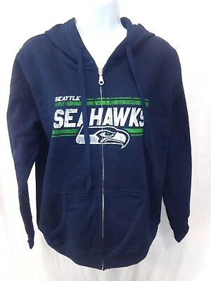 Seattle Seahawks inspired 12 Go Hawks Packable Insulated Jacket Navy Lime Hooded
