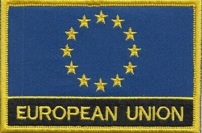 European Union EU Flag Embroidered Patch Badge  Sew or Iron on