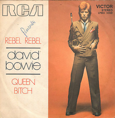 DAVID BOWIE rebel rebel / queen bitch 45RPM orig Italy
