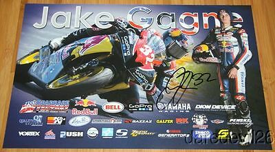 2014 Jake Gagne signed Red Bull Yamaha YZF-R6 Sportbike AMA poster