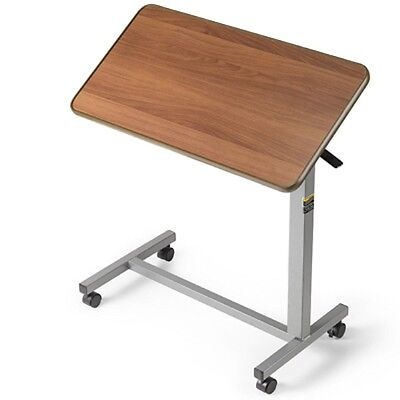 Tilt Top Overbed Table, Allows Three Angle Positions in Either Direction