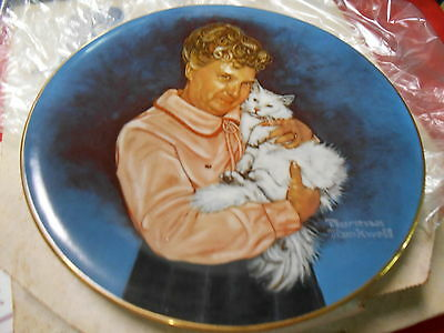 NORMAN ROCKWELL Portrait Plate-from Sweepstakes Boxtop Jennie...JENNIE & TINA