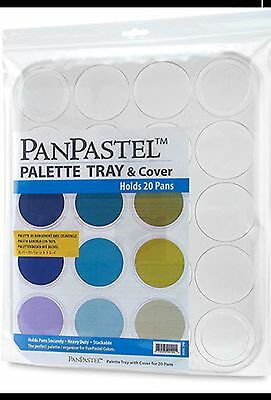 PanPastel -  20 Pan Palette Tray and Cover - Stackable, Heavy Duty and Secure