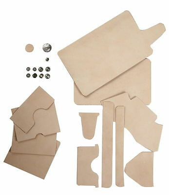 Craft Sha Leathercraft Leather Short Biker Wallet / Billfold Kit, Natural Tan