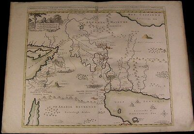 Paradise Arabia c. 1740 Covens & Mortier folio antique map old hand color