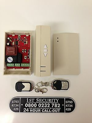 Roller Shutter / Garage Remote Control C/w 2 Hand Sets Full System With Switch