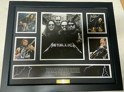 New Metallica Signed Limited Edition Memorabilia Framed