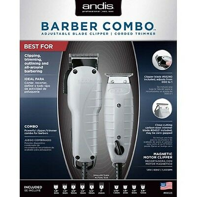 Andis Barber Combo 66325 Clipper (Envy) & Trimmer (T-Outliner)-Authorized Dealer