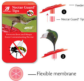 Aspects 384 hummingbird Feeder Nectar Guard Tips, bee- and wasp- proof tips