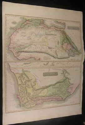 North & South Africa 1817 Thomson huge engraved folio antique hand color map