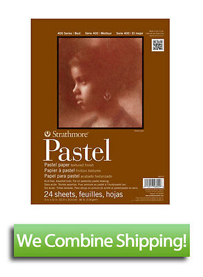 """Strathmore 400 Pastel Paper Pad 9""""x12"""" Assorted Colors 24 Sheet 80lbs"""