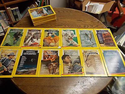 #12 of 44, COMPLETE YEAR 1970 NAT GEO NATIONAL GEOGRAPHIC MAGAZINES, ALL DIFF