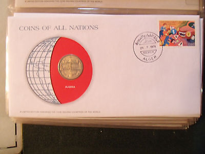 Coins of All Nations Algeria 50 centimes 1975 UNC
