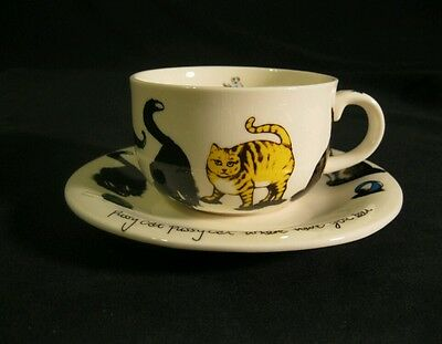 Paul Cardew 'Cat Tea' Cup and Saucer, 2004