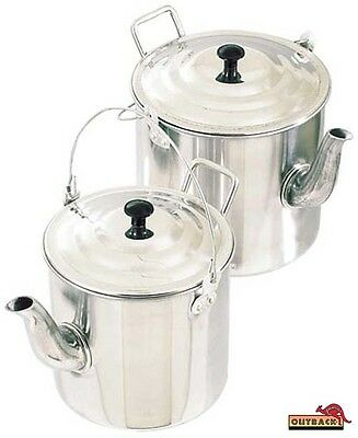 Outback Aluminium Teapot Billy Camping Kettle 4 pint or 6 pint