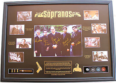 New The Sopranos Signed Limited Edition Oversized Memorabilia Framed