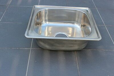 Stainless Steel Kitchen Sink - Square Bowl (45cm x 40cm)