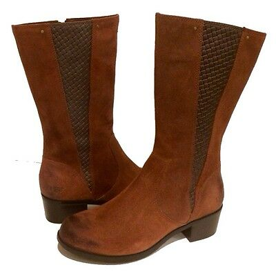 6a4b6da8030 UGG RIDING BOOTS Equestrian Brown Cinnamon Leather Us 7 /eur 38 /uk 5.5 New