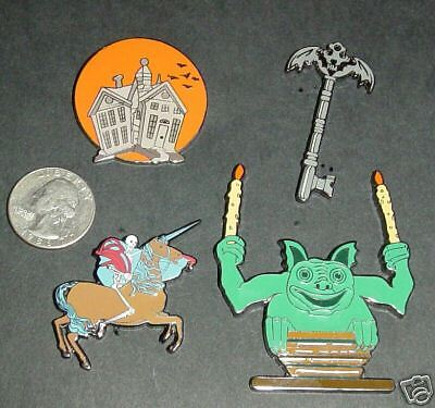4 - Haunted Mansion  Fantasy Pins  - Key, Gargoyle, Unique - New In Package