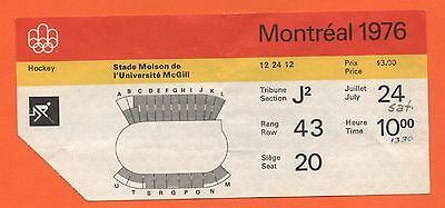 Orig.Ticket    Olympic Games MONTREAL 1976  -  HOCKEY  !!  VERY RARE
