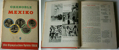 Orig.Book / Report      Olympic Games MEXICO and GRENOBLE 1968  !!     VERY RARE