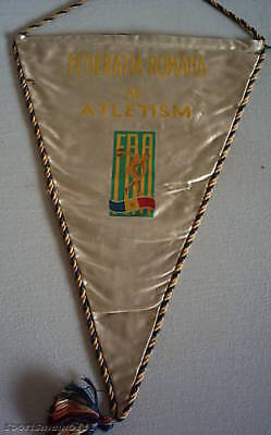 silk pennant   ROMANIA ATLETIC FEDERATION - 70th Years