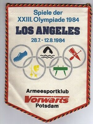 Orig.pennant  Olympic Games LOS ANGELES 1984 - TEAM GDR / East Germany  !!  RARE