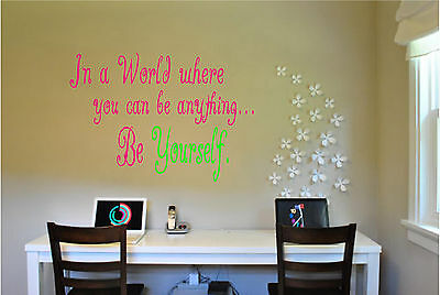 Be Yourself Wall Sticker Wall Art Words and Phrases Lettering Vinyl Art Stickers