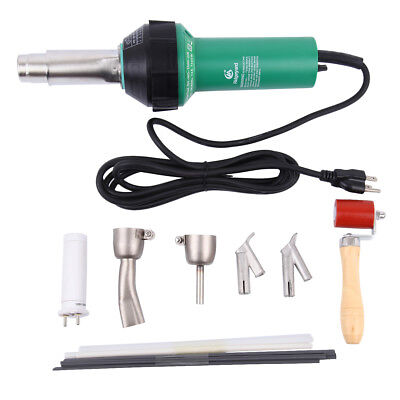 1500w Plastic Hot Air Heat welding Gun /Hot Gas Welder + 4 Nozzles + PE/PVC Rods