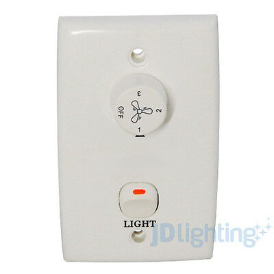 MARTEC LIFESTYLE 2 & 3.5 µF - 3 SPEED ROTARY CONTROL W/ LIGHT SWITCH & CAPACITOR