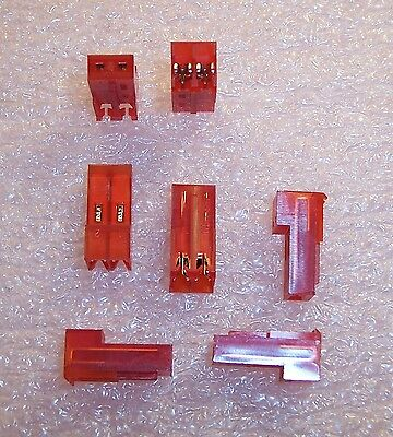 Qty (25) 640433-2 Amp 2 Position Mta-156 Idc Connectors 22Awg