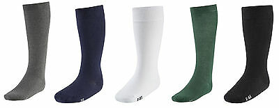 Traditional Girls Knee High Cotton Rich School Socks In 5 Colours & Adult Sizes