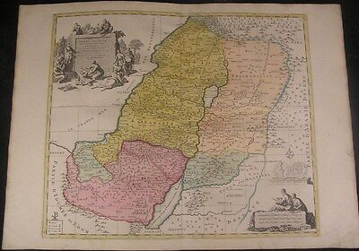 Holy Land c.1740 Covens & Mortier folio Israel old color antique map