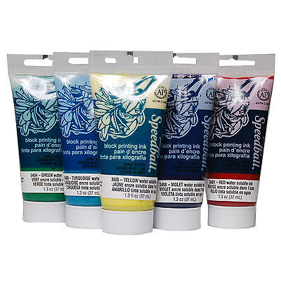 Speedball Water Based Block Printing Ink (choose colour) Lino Soft Cut Relief
