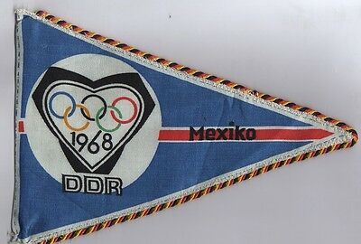 Orig.pennant    Olympic Games MEXICO 1968  / Team GDR / East Germany  !!  RARE