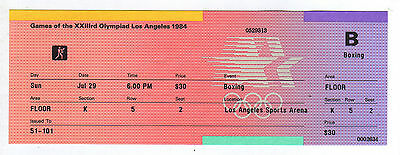 Orig.ticket     Olympic Games LOS ANGELES 1984  -  BOXING / 29.07.1984  !!  RARE
