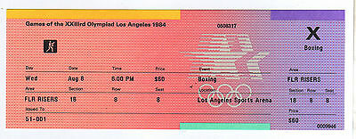 Orig.ticket     Olympic Games LOS ANGELES 1984  -  BOXING // all 1/4 Final`s  !!