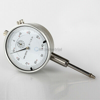 "1"" Dial Indicator 0.001"" Graduation Travel Lug Back White Face"