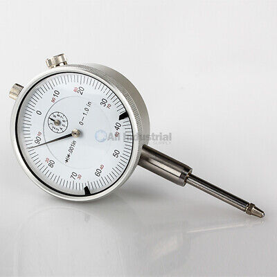 "Triton 1"" Dial Indicator 0.001"" Graduation Travel Lug Back White Face"