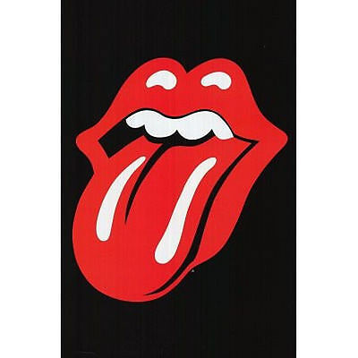 ROLLING STONES - TONGUE LOGO POSTER - 24x36 SHRINK WRAPPED - JAGGER MUSIC 3095